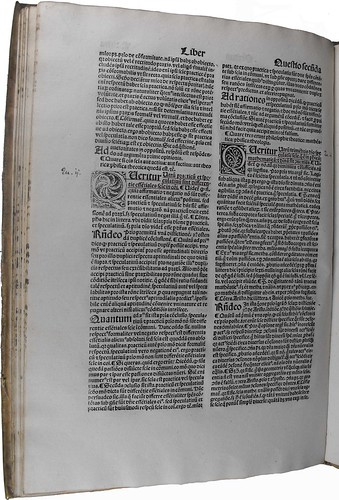 Page of text from 'Quaestiones super XII libros Metaphysicae Aristotelis'. Sp Coll BC2-x.15.