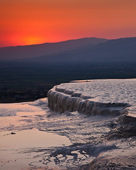Pamukkale Sunset (Jeffrey Sullivan) Tags: travel sunset canon turkey ruins photos terraces september travertine hieropolis pamukkale 2010 canon70200f4l ef70200mmf4lisusm jeffsullivan