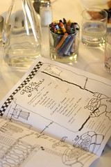 A kids menu and crayons at Caffe Venezia (Photo by D. Ross Cameron, Bay Area News Group)