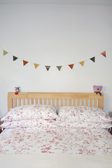 felted wool bunting (monda loves...) Tags: uk autumn fall wool felted sweater bed bedroom teddy garland headboard hanging jumper colourful teds autumnal bunting monda
