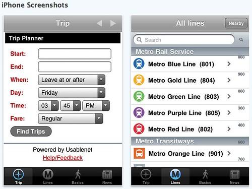 Metro iPhone App