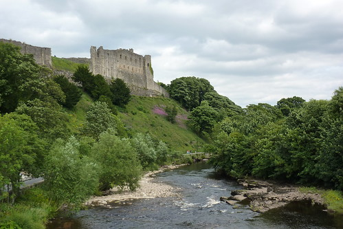 Richmond Castle overlooking the River Swale