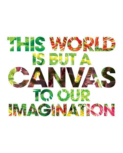 This World is But a Canvas to our Imagination, print, typography, quote, art, Etsy