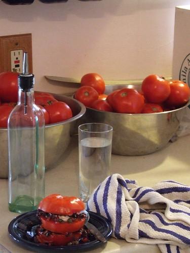 Tomato millefeuille