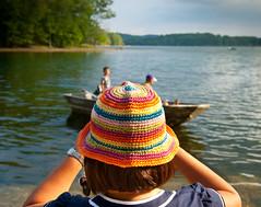THE SHORELINE-rainbow hat (tom faulkner photographs) Tags: family vacation art tom rainbow fine binoculars photographs faulkner risd takingpictures rainbowhat theshoreline tomfaulknerphotographs