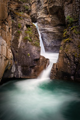 Johnston Canyon Lower Falls - Banff NP - Canada (Thomas Barothy) Tags: canada fall banff cascade lowerfalls johnstoncanyon photomatix
