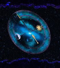 Il y avait quelque chose de plus grand que nous...AVANT NOUS... et c'est toujours l... (Only time heals wounds) Tags: blue sky photoshop time space philosophy galaxie astronomie