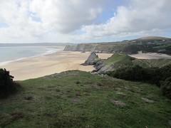 Overlooking Three Cliffs Bay