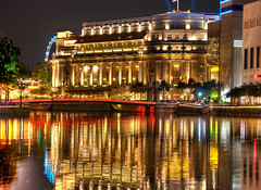 The Fullerton Hotel (Sprengben [why not get a friend]) Tags: world china city wedding summer sky music newyork paris art japan skyline clouds skyscraper observation hongkong tokyo bay harbor amazing rainbow nikon singapore asia ship shanghai sundown artistic gorgeous awesome watch hamburg elevator style casino divine international shoppingmall stunning metropolis charming foreign fabulous hdr englandlondon singaporeriver marinabay engaging travelphotography d90 photomatix thefullertonhotel singaporeflyer travellight d3s sprengben wwwflickrcomphotossprengben sprengbenurban sprengben2010singaporerobocupgoetheschuleasienasiatravel boatsands formulabay