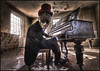 Lend me your ears and I'll sing you a song (odin's_raven) Tags: park jason west abandoned hat hospital mask top piano rays asylum hdr facemask jasonmask