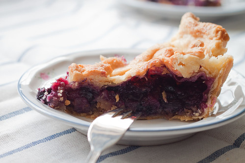 Slice of Blackberry-blueberry pie