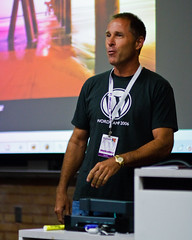 Michael Dorausch speaking at WordCamp LA (Bryan Villarin) Tags: california portrait people usa man male losangeles unitedstates wordpress alsace conference lmu loyolamarymountuniversity canonef85mmf18usm wordcamp canoneos40d michaeldorausch wordcampla wordcamplosangeles