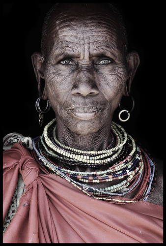 Samburu elder from Wamba village / Kenya