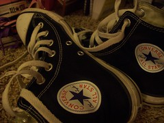 Black Betty (GreenLaces) Tags: black shoes converse chucks chucktaylors converselove