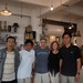 Gary Di Pasquale, Kathy Erteman, and visiting Nixi potters