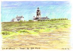 100807phare (Vincent Desplanche) Tags: sketch bretagne crayons moines croquis carnet groix colorpencils iledegroix