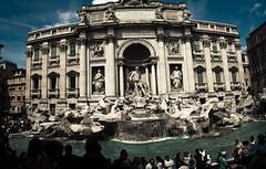 Fontana Trevi (1yen) Tags: travel italy panorama stpeters rome roma travelling photoshop europe panoramic trevifountain fontanaditrevi stpetersbasilica 4exp trevirione