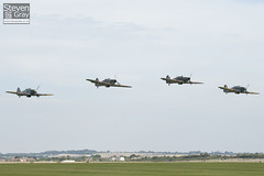 G-BKTH & G-HHII & G-HUPW & G-HURI - R4118 & Z5140 & Z7015 & BE505 - Hawker Hurricane Mk1 Mk1B Mk2b & Sea Hurricane - Duxford - 100905 - Steven Gray - IMG_7258