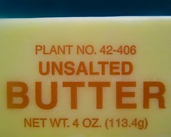 PLANT NO. 42-406 • UNSALTED BUTTER • NET WT. 4...