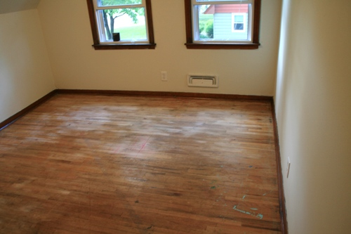floor refinishing project