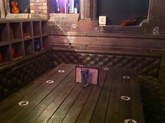 Very large table at Ghillie Dhu, Edinburgh