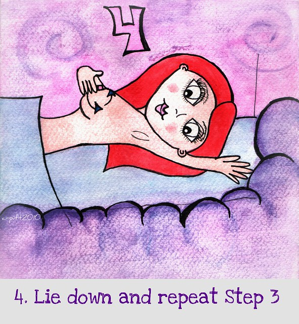 Step 4. Lie down and repeat Step 3