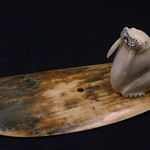 """<b>Walrus on Base</b><br/> Unknown, Eskimo American (ivory, ca. 1977) LFAC#2008:01:48<a href=""""http://farm5.static.flickr.com/4131/4996386003_dd3b185529_o.jpg"""" title=""""High res"""">∝</a>"""