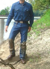 18 WS OK, join me next time for some muddy fun (Wrangswet) Tags: wet cowboys river wranglers riverhike swimmingfullyclothed wetjeans riverswimming wetboots wetcowboy swimminginwranglerjeans guysswimmingfullyclothed wetwranglerjeans meninwetjeans wetcowboysswimming wetspurs