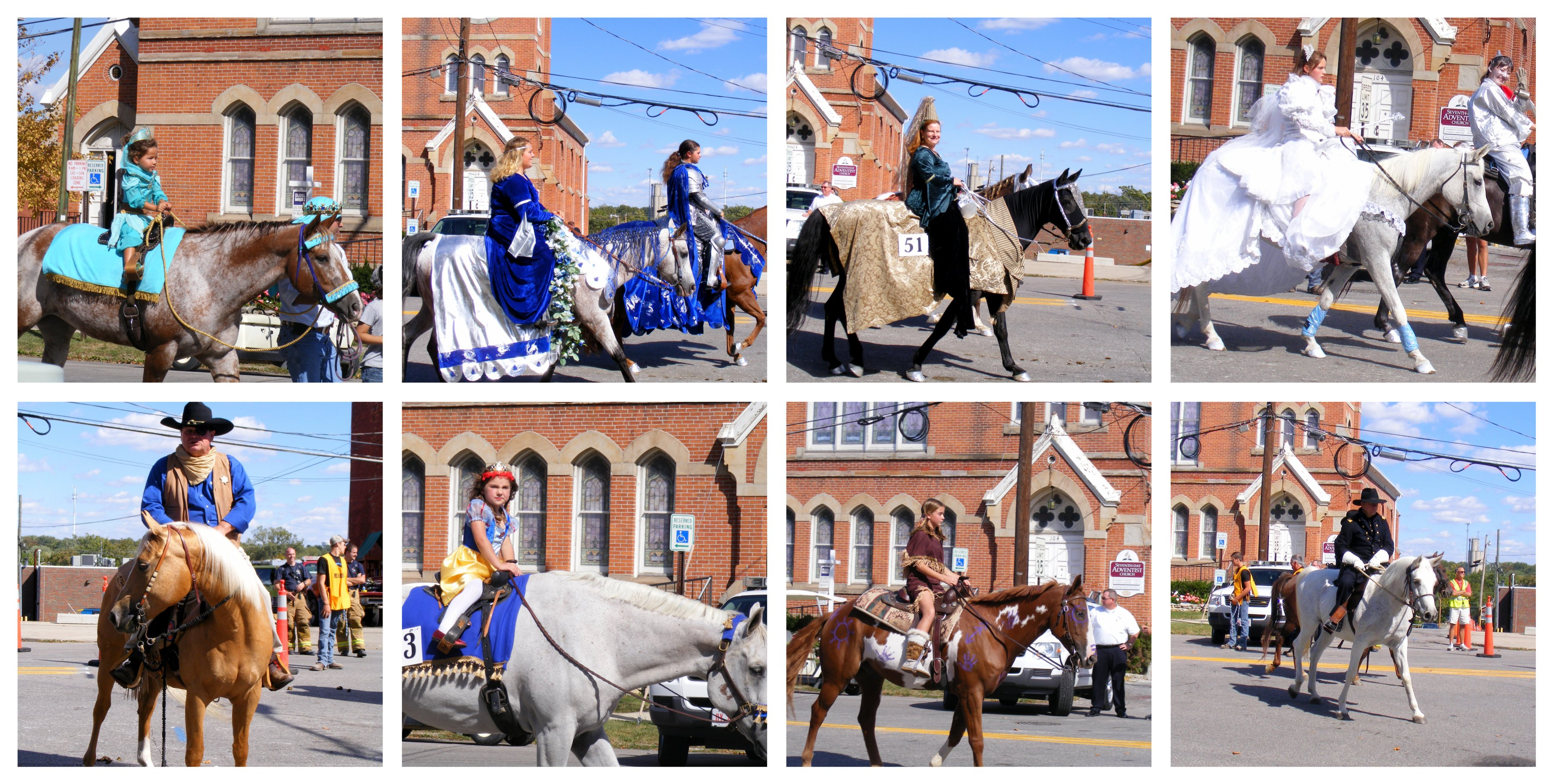 Horse costume collage