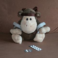 234-365 Properly prepared (Chunky van Monkey) Tags: rain weather monkey sailing weekend bad stuffedanimal pills patch pill chunky seasickness 365daysproject acustrap