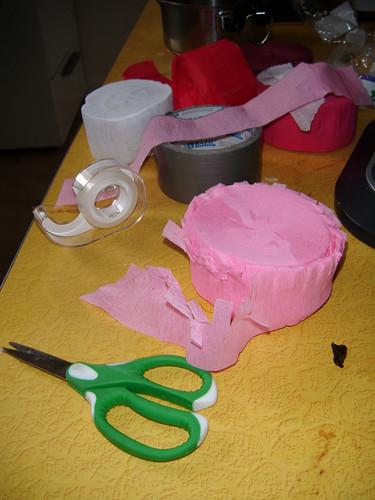 crepe paper frills