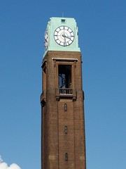 Gillette Building Clock Tower (Maxwell Hamilton) Tags: uk building tower clock artdeco a4 spiralstaircase brentford gillette goldenmile greatwestroad greaterlondon brentforda4