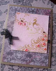 For any occasion (Jacqueline.fr) Tags: pink vintage peacock patternedpaper resistembossing cg184