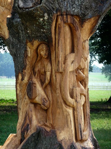 Chainsaw Sculpture - DCD Ranch in Holt, FL
