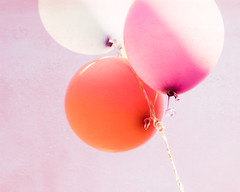 Nobody can be uncheered with a balloon (CarolynsHope) Tags: birthday pink party orange color texture colors smile childhood balloons festive fun happy amusement colorful soft cheery feminine joy balloon birthdayparty celebration reception innocence cheer festivity cheerful joyful celebrate occasion gala function gettogether entertain occasions childlike skeletalmess carolynshope