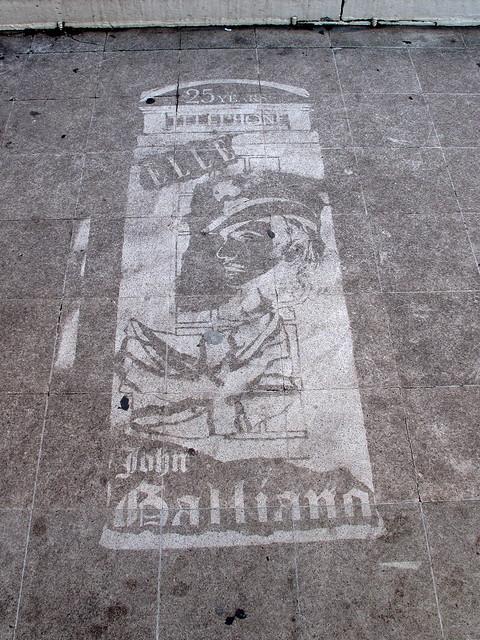 london stencil elle galliano johngalliano reversegraffiti cleangraffiti