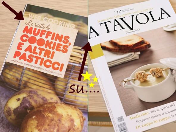 "Muffins, cookies e altri pasticci su ""A tavola"" di Ottobre"