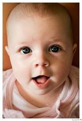 Juliette (laurent-b  (Laurent Boulay)) Tags: pink portrait baby girl smile rose child enfant fille sourire bb