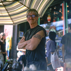 Michal (patrickjoust) Tags: street city people urban usa color 120 6x6 tlr film festival tattoo analog america square lens person enna us reflex md focus fuji mechanical united north patrick twin maryland slide baltimore sugar v chrome automatic epson medium format munchen 28 states michal manual 500 domino fest avenue expired 80 joust fujichrome e6 f28 hampden sugars werk owner estados astia 80mm 100f theavenue reversal unidos 36th v500 hampdenfest ennit rollop 8cm lipca autaut hampdenjunque patrickjoust makarovich