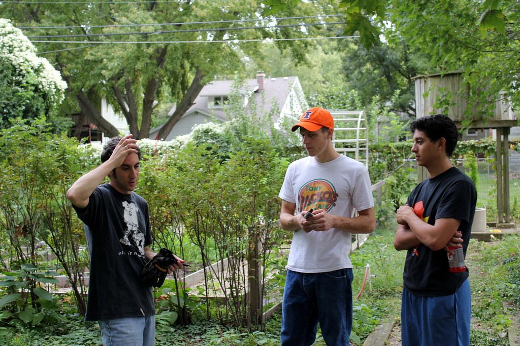 three guys and a yard