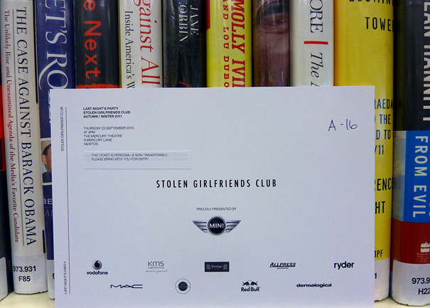 Stolen Girlfriends Club Invitation
