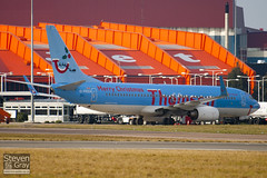 G-FDZA - 35134 - Thomson Airways - Boeing 737-8K5 - Luton - 100121 - Steven Gray - IMG_6617