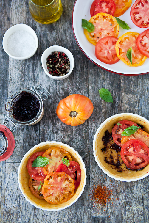 Heirloom Tomato Olive Tarts