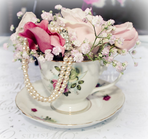 flowers,bracelet and cup