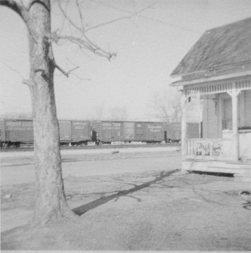 Old house and train, Lufkin, TX, early 70's