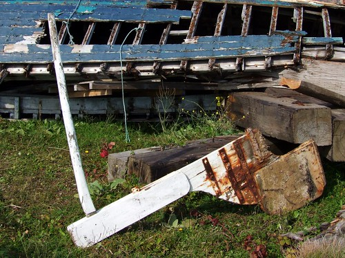 A rudder without a boat!