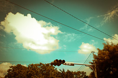 Day 10,680 / Autumn (Charles Wonderland*) Tags: autumn summer sky cloud sun love canon streetlight pure traficlight 550d canonef28mmf18usm