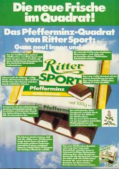 RITTER SPORT Pfefferminz 1983