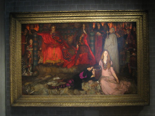 The Play Scene in  Hamlet (Act III, Scene 2), 1897, Edwin Austin Abbey _7727
