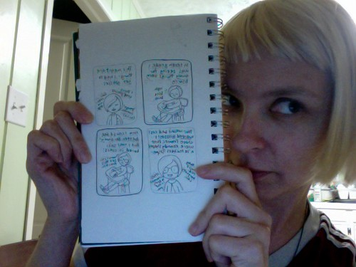 Here I am with the new comic I drew today!